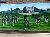 There were several murals in the town thsi one was painted by Annie Smith.