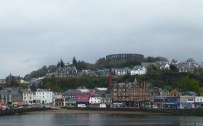 Looking back at Oban from the ferry.