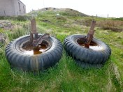 Some Bomber Tyres for Dick, just lying here in a Crofters yard.