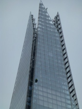 Window cleaner on The Shard.