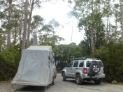 Our lovely campsite at Cradle Mountain