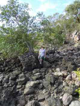 In amongst the volcanic rocks, Wedge Island