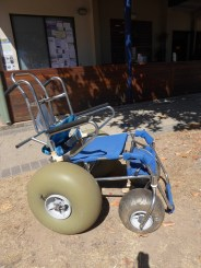 """Great to see this """"off road"""" wheelchair at Hosreshoe Bay"""