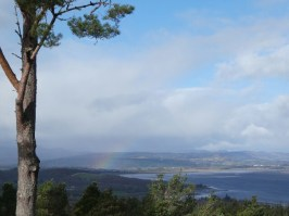 View over the Beauly Firth with Beauly in the background.