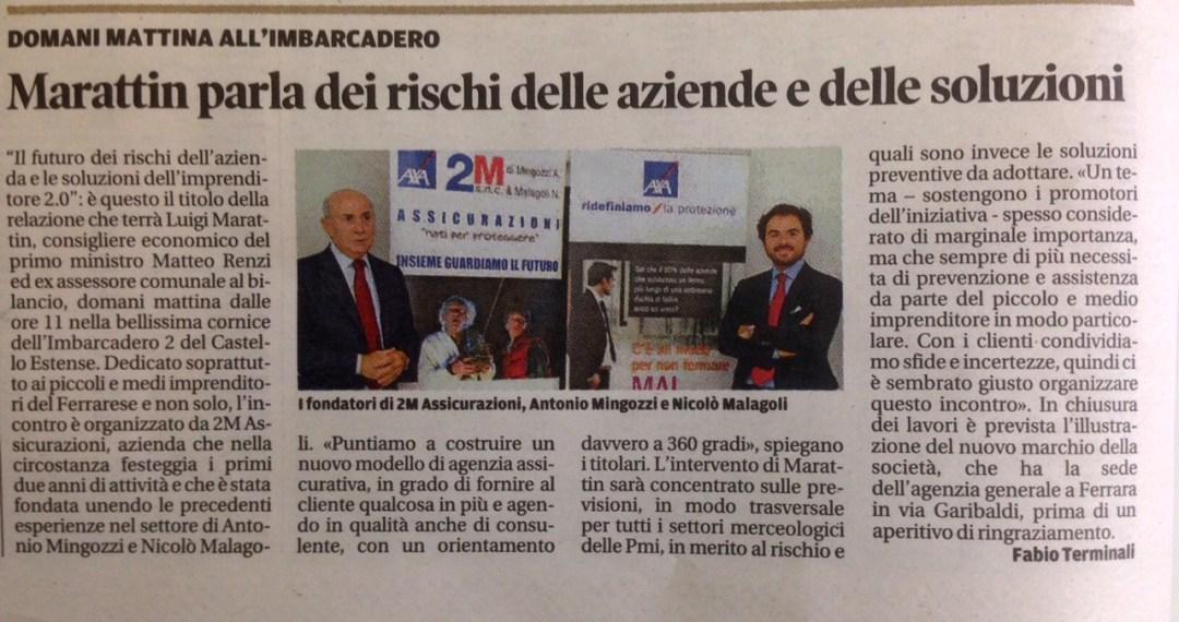 articolo Nuova Ferrara su evento di formazione