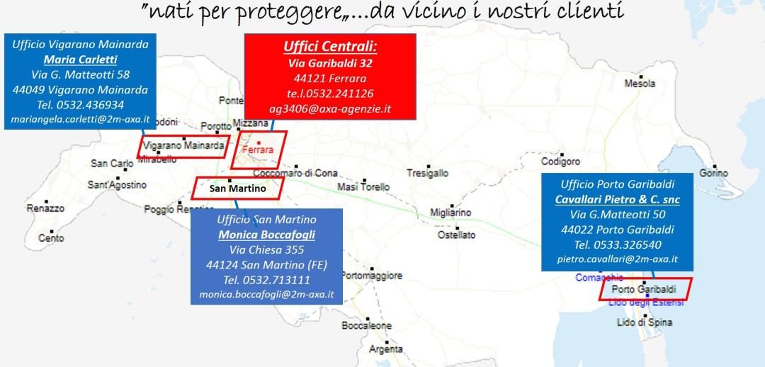 mappa degli uffici di 2m assicurazioni