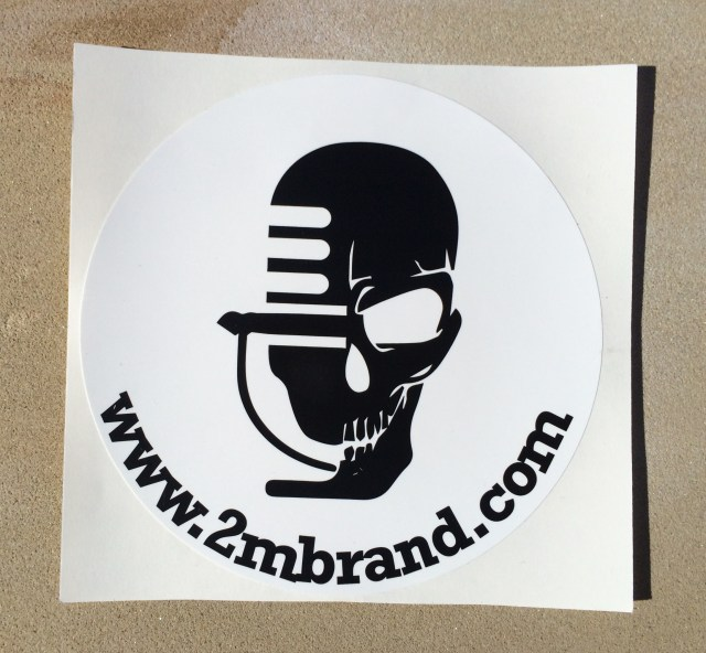 "5"" Circle Mic/Skull Bumper Sticker"