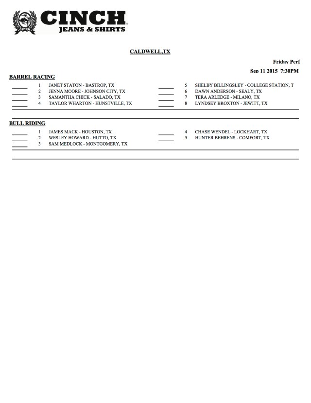 Caldwell Day Sheet 2 of 6