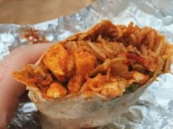 Wrapchic Paneer Masala Burrito filling
