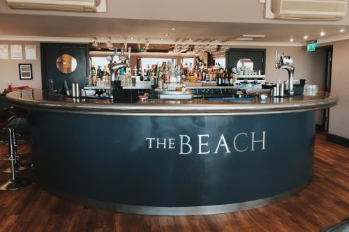 The bar at The Beach at Bude hotel in Cornwall