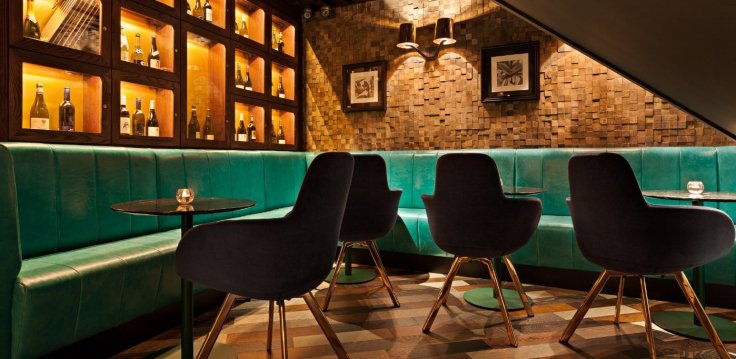 Ember bar and restaurant in London's Monument, Puddling Lane