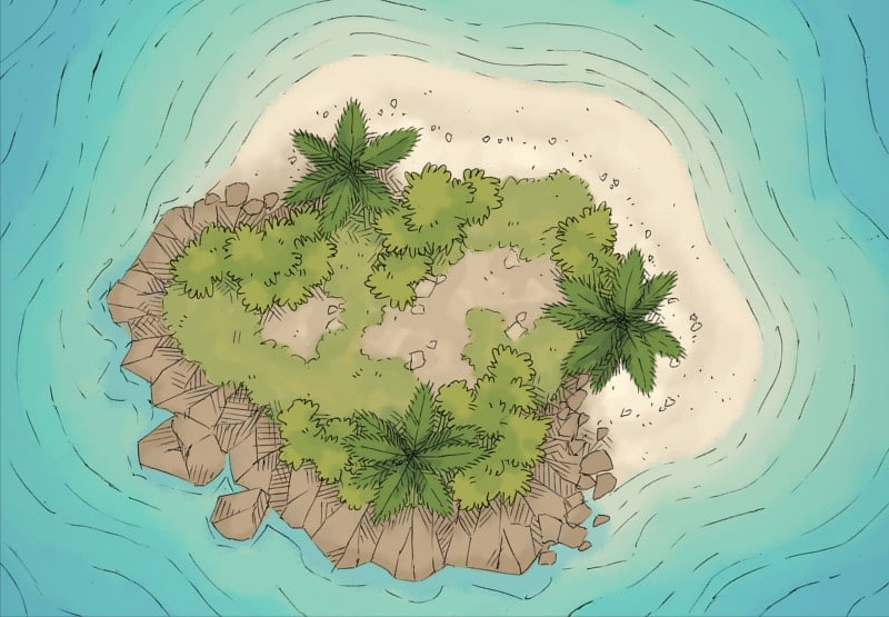 Rpg Ocean Island Battle Map