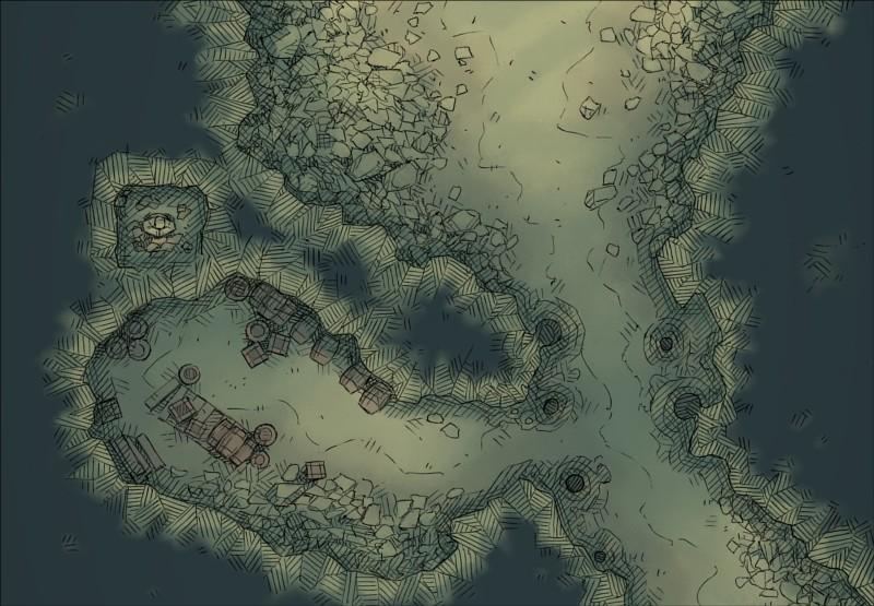 Large Volcanic Island Battle Map