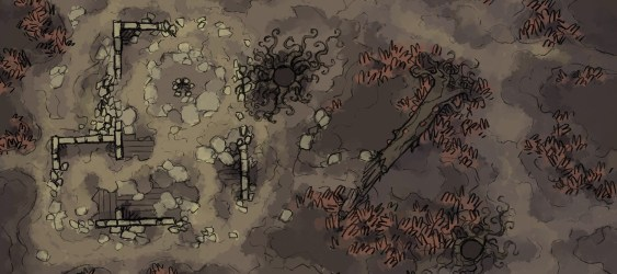 swamp map battle shifting maps minute print table remains fire play 2minutetabletop crumbling muddy raised ground building side