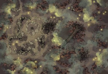 swamp map fog battle maps dungeon rpg foggy marsh fantasy shifting spooky pathfinder tabletop water ruins grid dragons dungeons patreon