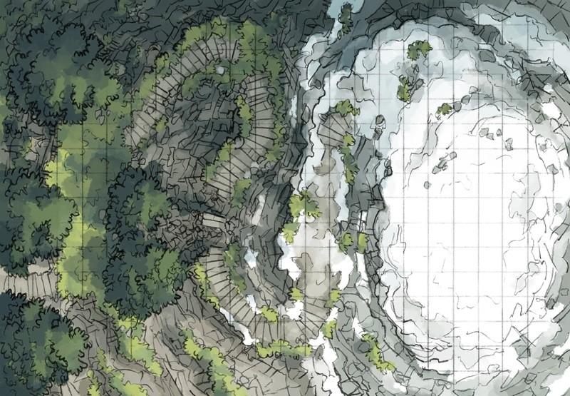 Snowy Summit Mountain Battle Map