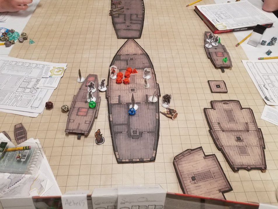 Sean Sea Encounter Galleon Schooner battle maps
