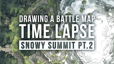 Snowy Summit Battle Map Photoshop Time Lapse