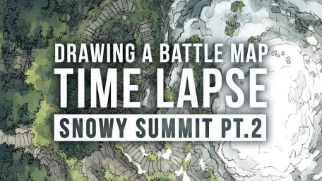 Snowy Summit Battle Map Photoshop Time Lapse