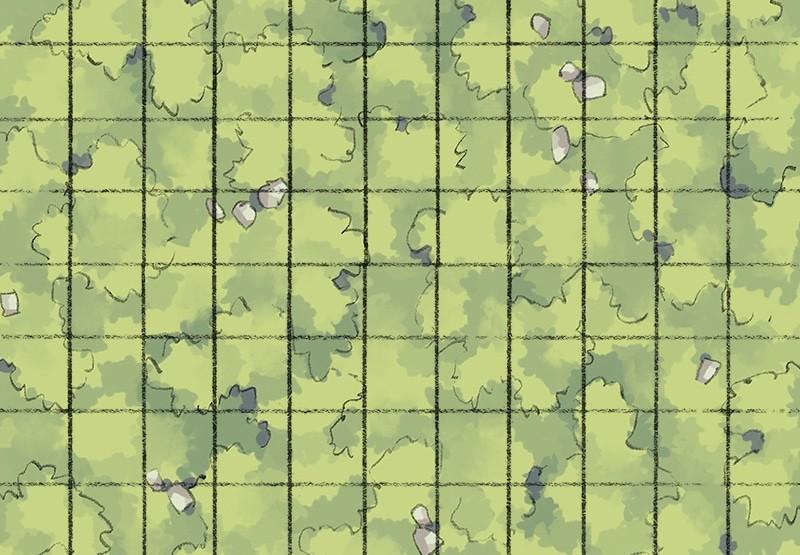 Roadside Tiling Grass, Grid