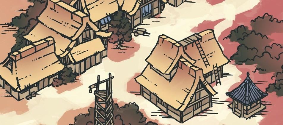 Japanese Village RPG Map, Banner