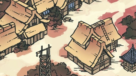 Japanese Village RPG Map, Banner