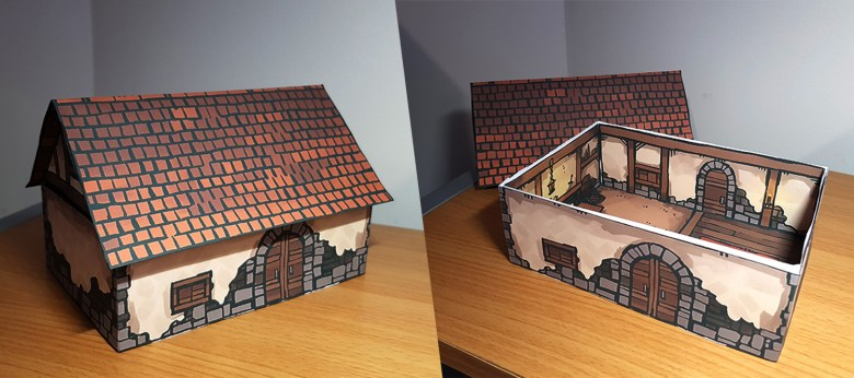Papercraft House Rpg Set Piece Map By 2 Minute Table Top