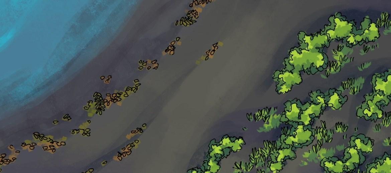 Beach Dunes Battle Map, black sand banner