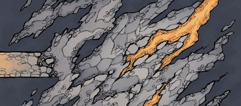 Jagged Cave battle map, banner