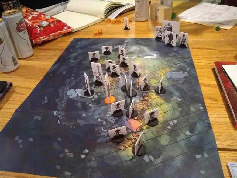 Goblin Bigrock camp rpg battle map