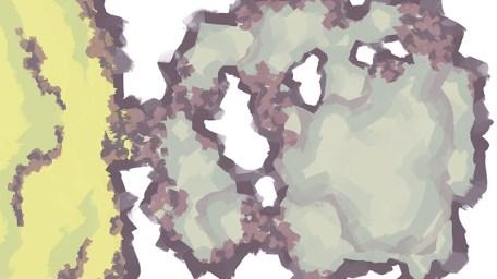 Monster Lair RPG Battle Map, Color