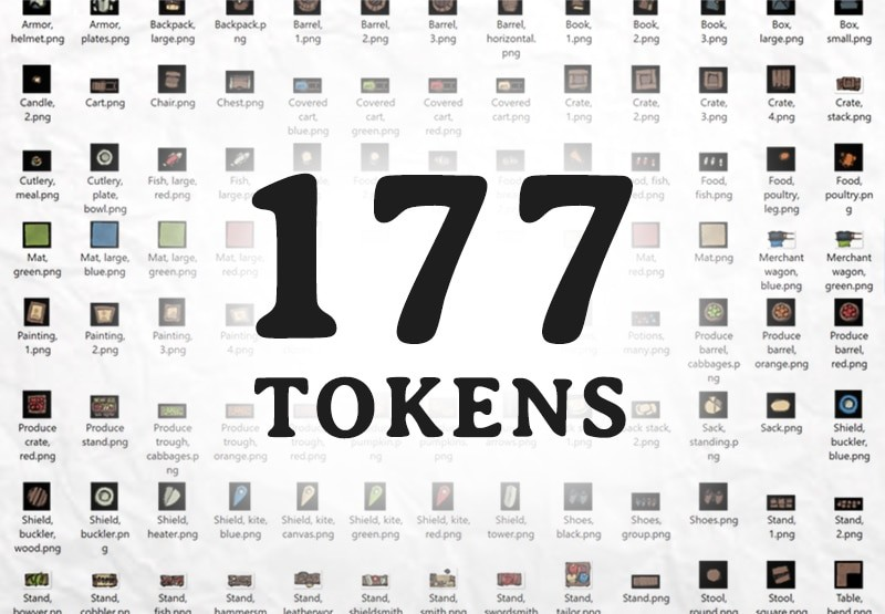 Mercantile Tokens, rpg virtual table top