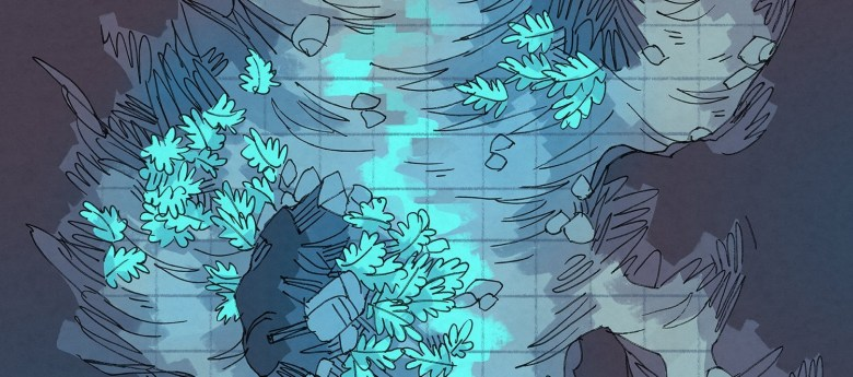 Luminescent Cave battle map, banner