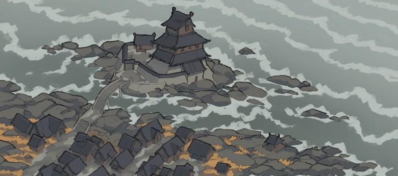 Castle Town city map, banner