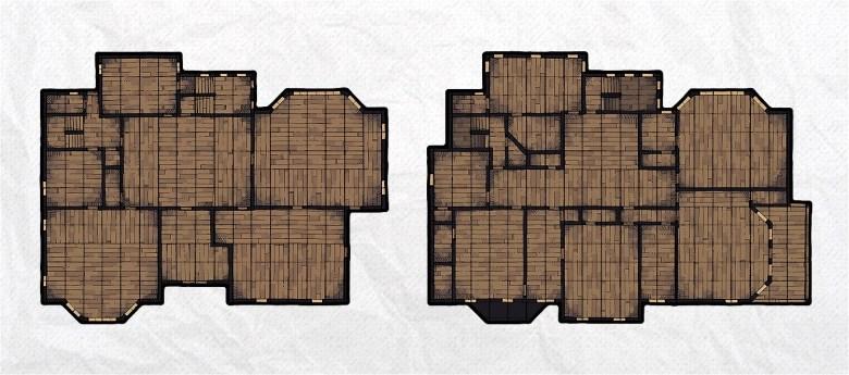 Haunted Mansion battle map, banner