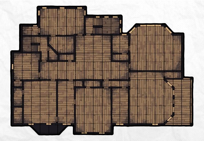 Haunted Mansion battle map, floor 2
