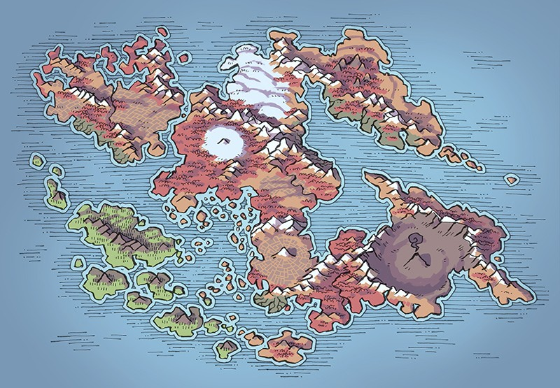 Wei Continent RPG World Map, autumn
