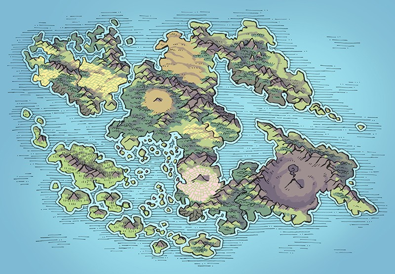 Wei Continent RPG World Map, summer