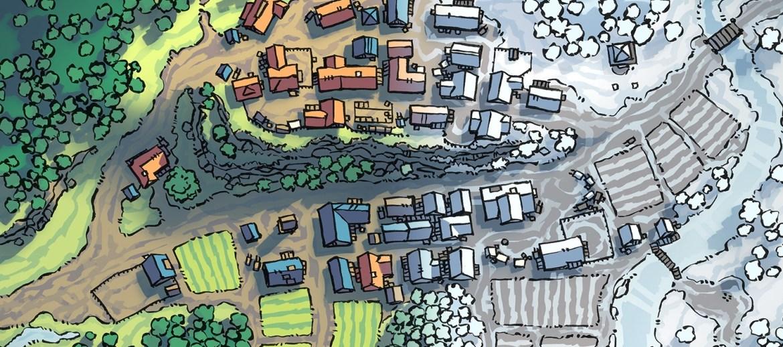 Poacher's Crest RPG Town Map, banner