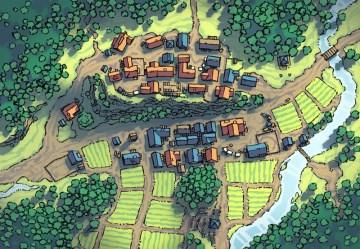 town map rpg crest village fantasy poacher 2minutetabletop tabletop drawn hand minute forest poachers dungeons dragons table again artigo site