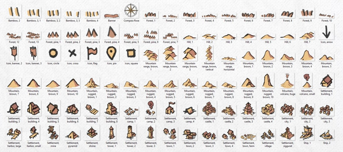 Wonderdraft Map Icons, banner, parchment