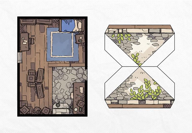 Papercraft Cottage 3D Battle Map, Page 1