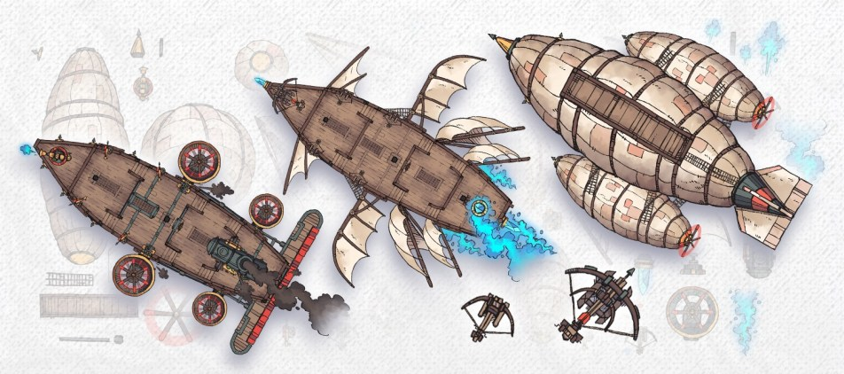 Airships & Assets RPG Graphics, Banner