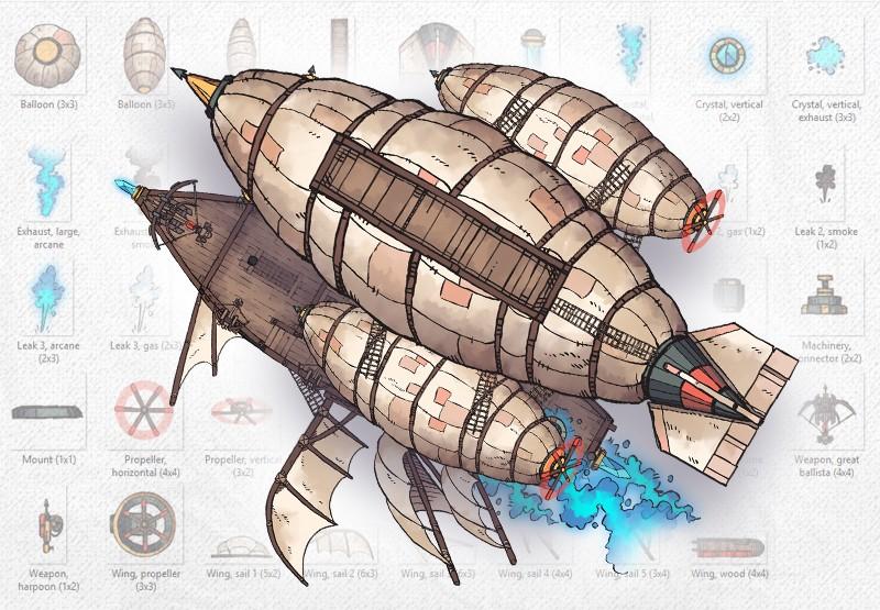 Airships & Assets RPG Graphics, Mockup