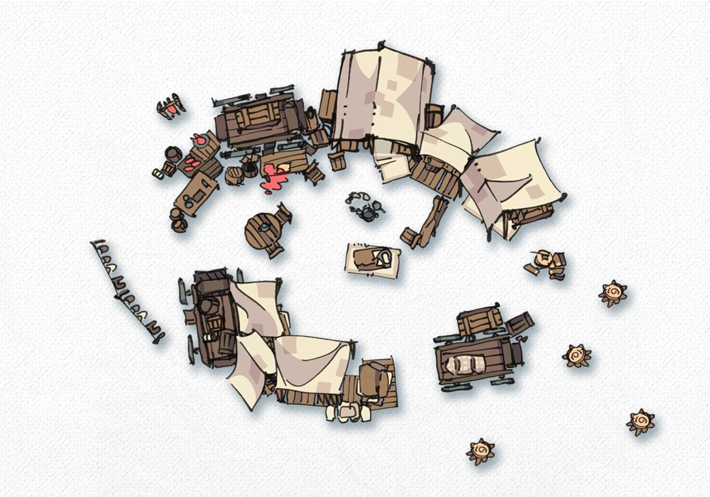 Bandic Camp Assets and Battle Map, Assets Preview