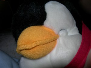 Tucks the Tundry stuffed Penguin
