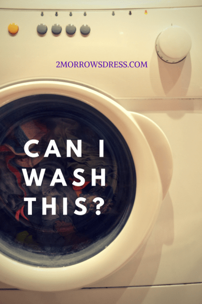 CAN I WASH THIS