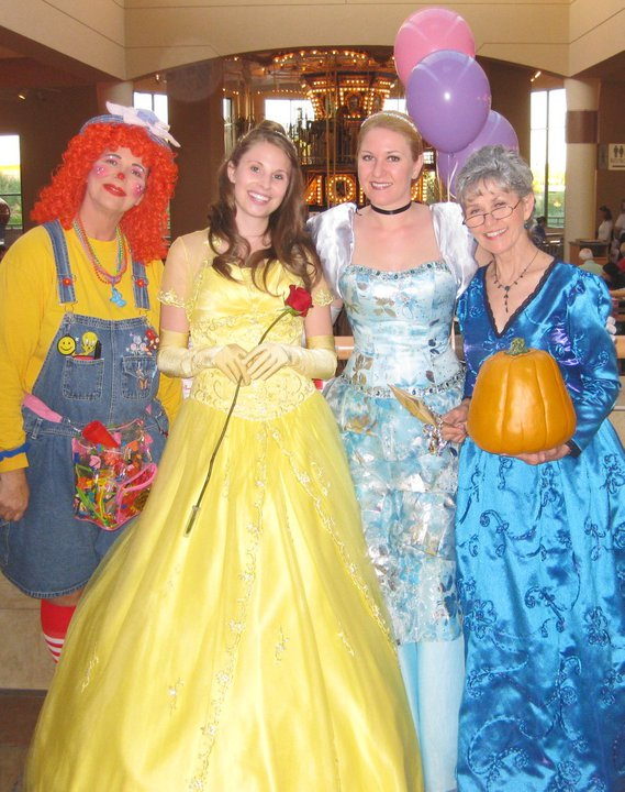 Princess night with Belle, Cinderella, and Fairy Godmother