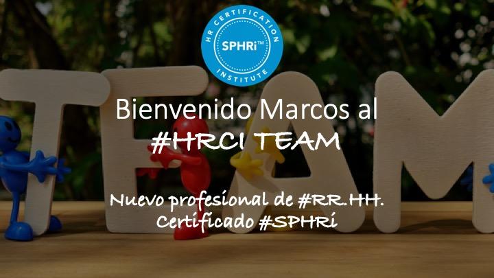 Marcos Ramos, nuevo profesional certificado #SPHRi