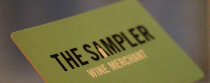 The Sampler tasting card